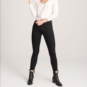 Abercrombie Black Low Rise Ankle Jeans